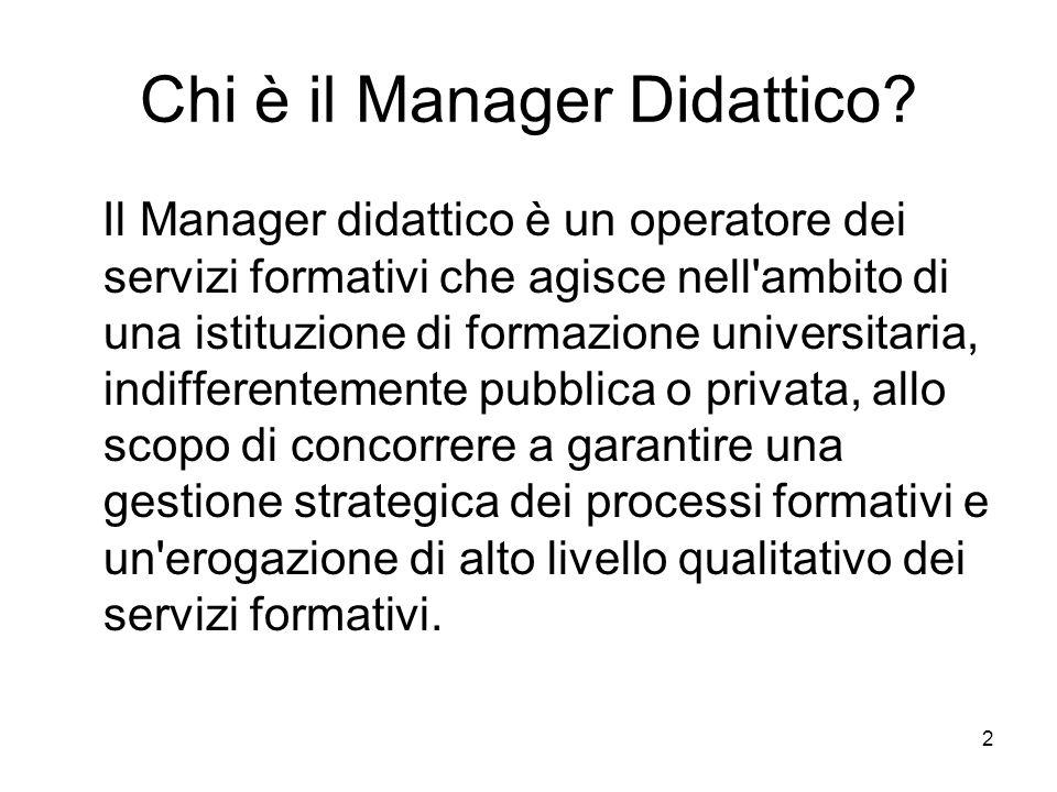 Chi è il Manager Didattico