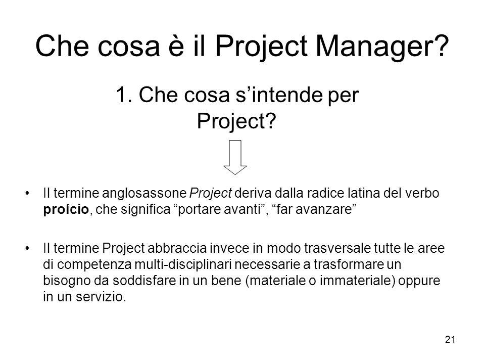Che cosa è il Project Manager