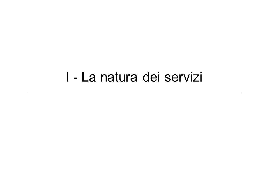 I - La natura dei servizi