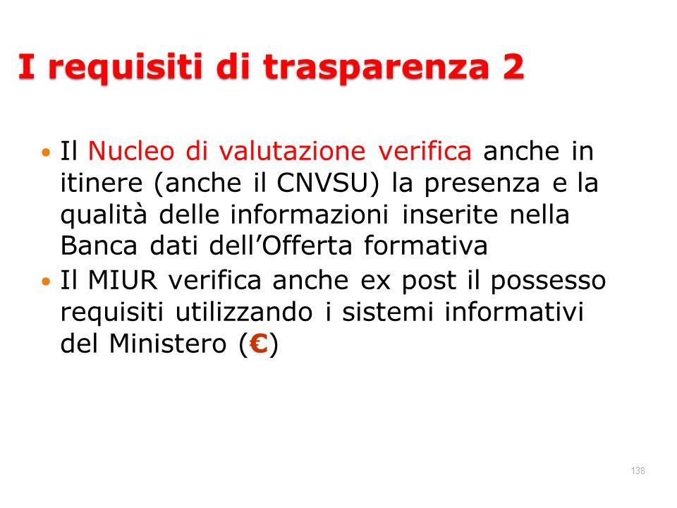 I requisiti di trasparenza 2