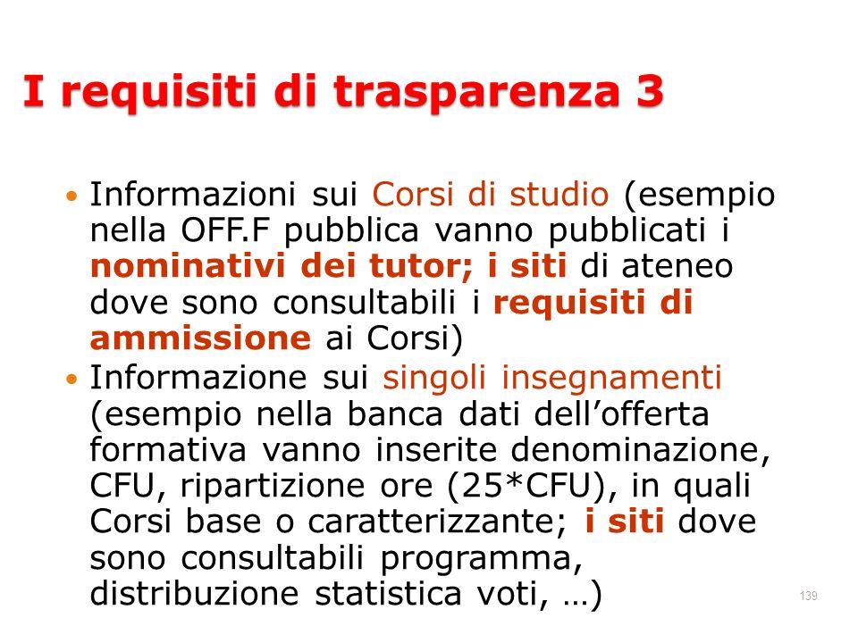 I requisiti di trasparenza 3