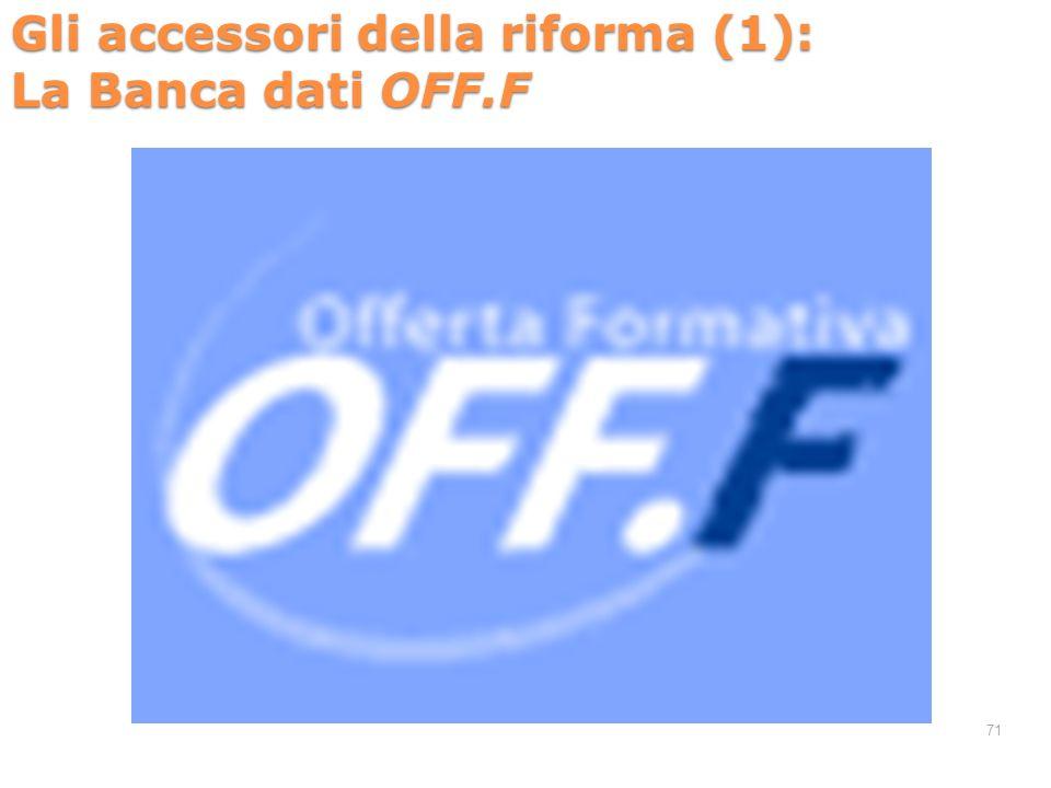 Gli accessori della riforma (1): La Banca dati OFF.F