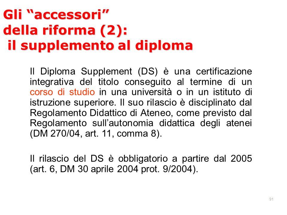 Gli accessori della riforma (2): il supplemento al diploma