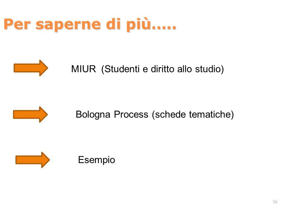 Per saperne di più….. MIUR (Studenti e diritto allo studio)