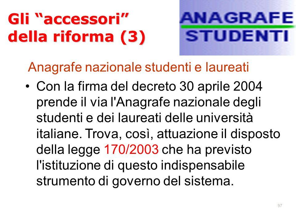 Gli accessori della riforma (3)