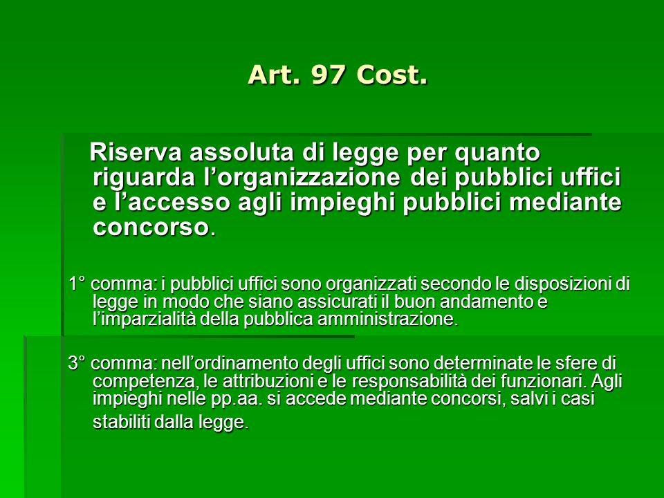 Art. 97 Cost.
