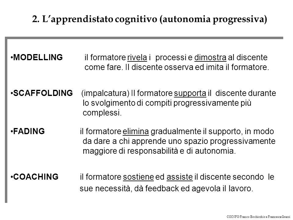 2. L'apprendistato cognitivo (autonomia progressiva)