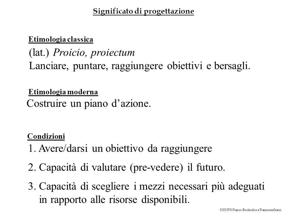 (lat.) Proicio, proiectum