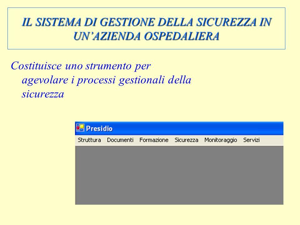 IL SISTEMA DI GESTIONE DELLA SICUREZZA IN UN'AZIENDA OSPEDALIERA