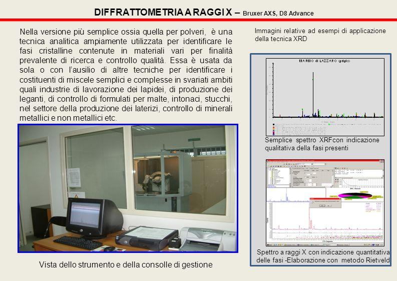DIFFRATTOMETRIA A RAGGI X – Bruxer AXS, D8 Advance