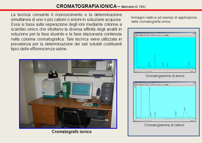 CROMATOGRAFIA IONICA – Metrohm IC 761)