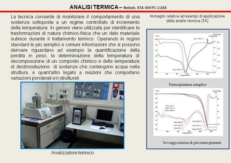 ANALISI TERMICA – Netzsh, STA 409 PC LUXX