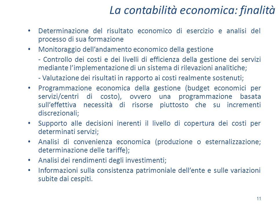 La contabilità economica: finalità