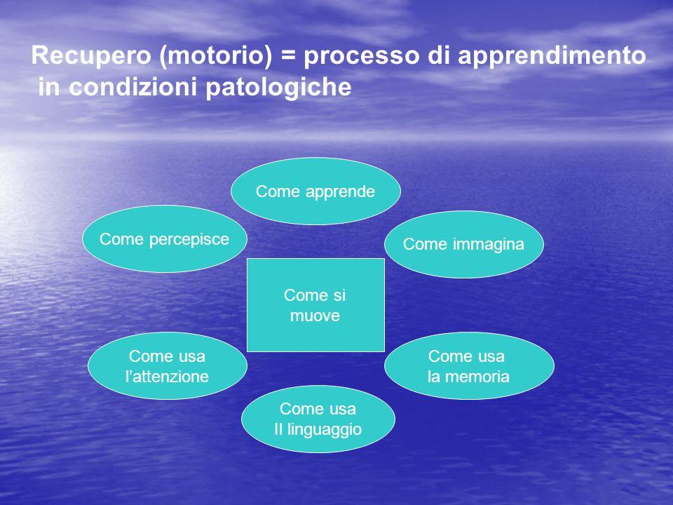 Recupero (motorio) = processo di apprendimento
