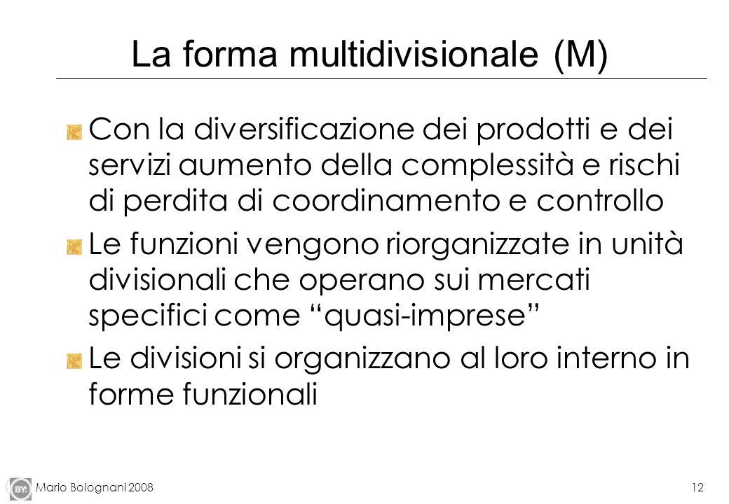 La forma multidivisionale (M)