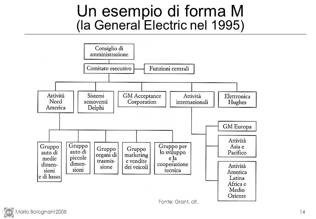 Un esempio di forma M (la General Electric nel 1995)