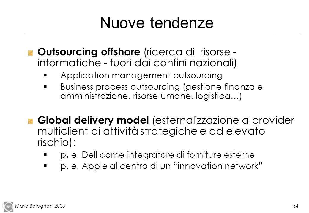 Nuove tendenze Outsourcing offshore (ricerca di risorse - informatiche - fuori dai confini nazionali)