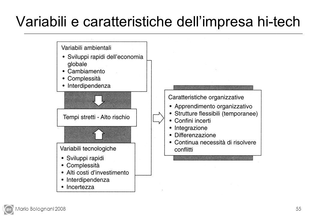 Variabili e caratteristiche dell'impresa hi-tech