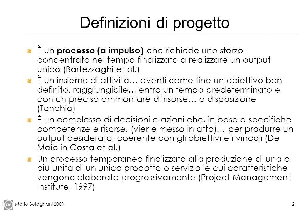 Definizioni di progetto