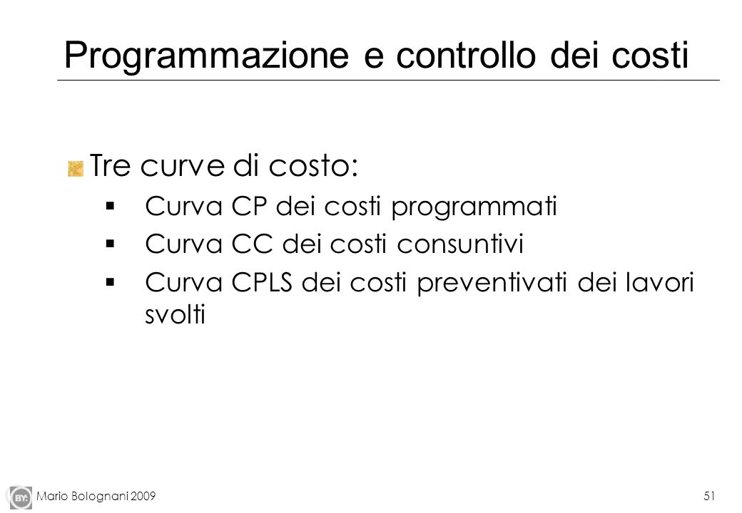 Programmazione e controllo dei costi