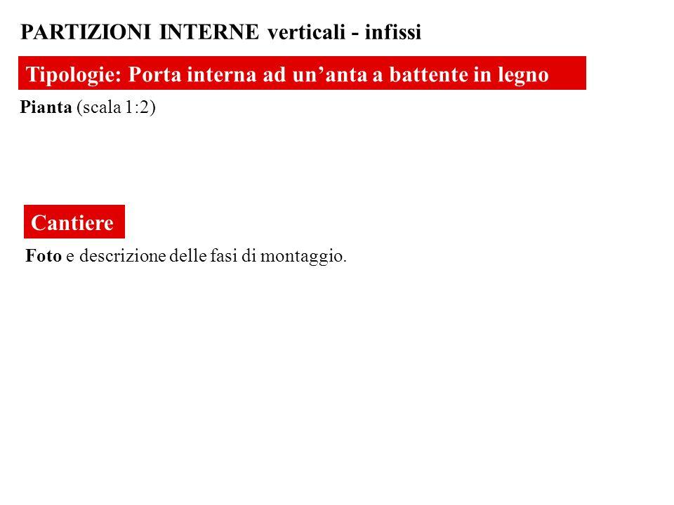 PARTIZIONI INTERNE verticali - infissi