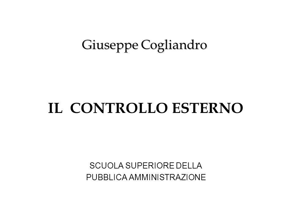 IL CONTROLLO ESTERNO SCUOLA SUPERIORE DELLA PUBBLICA AMMINISTRAZIONE