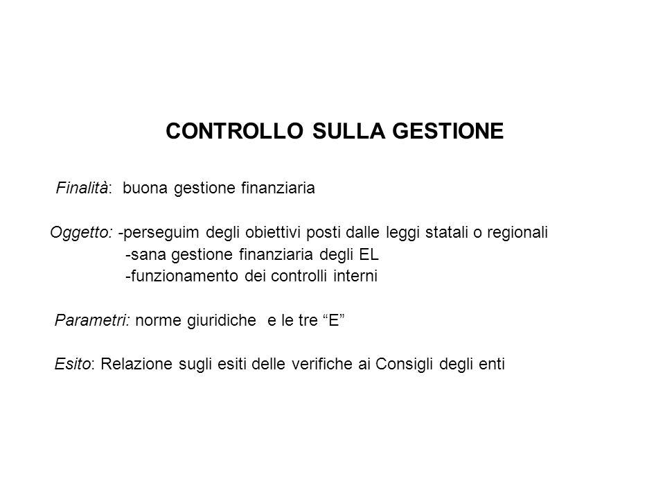 CONTROLLO SULLA GESTIONE