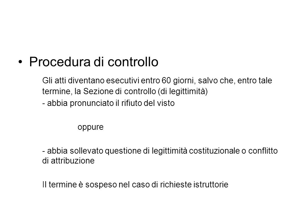 Procedura di controllo