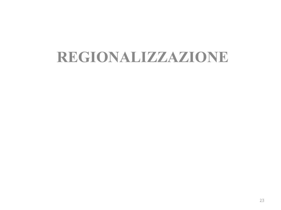 REGIONALIZZAZIONE