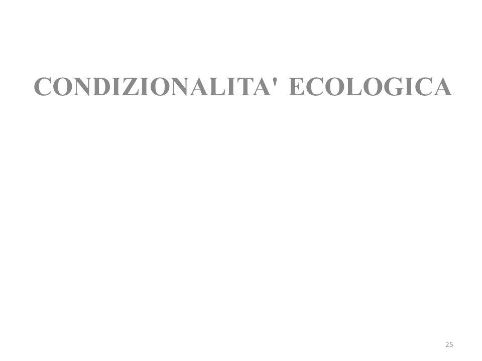 CONDIZIONALITA ECOLOGICA