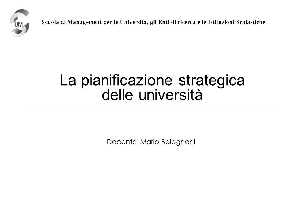 La pianificazione strategica delle università