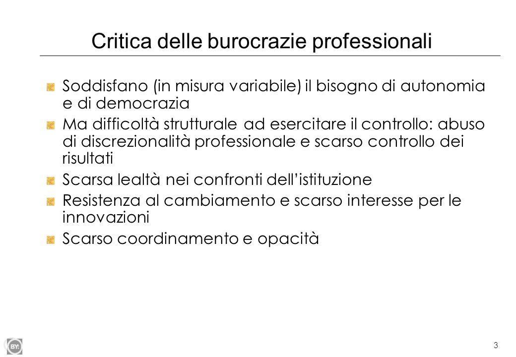 Critica delle burocrazie professionali