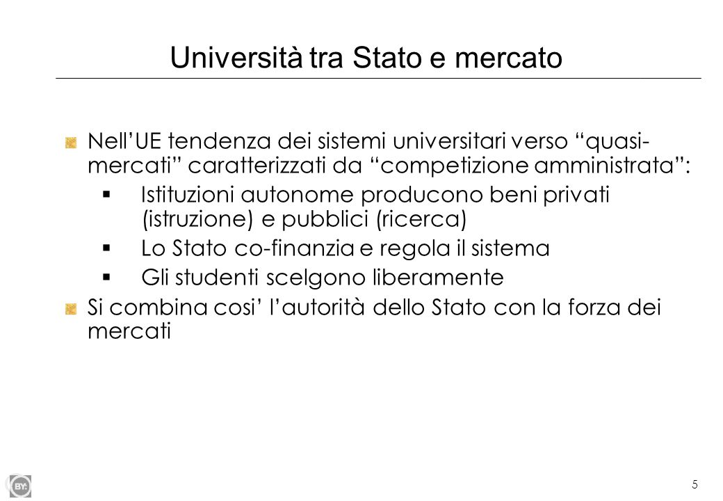 Università tra Stato e mercato