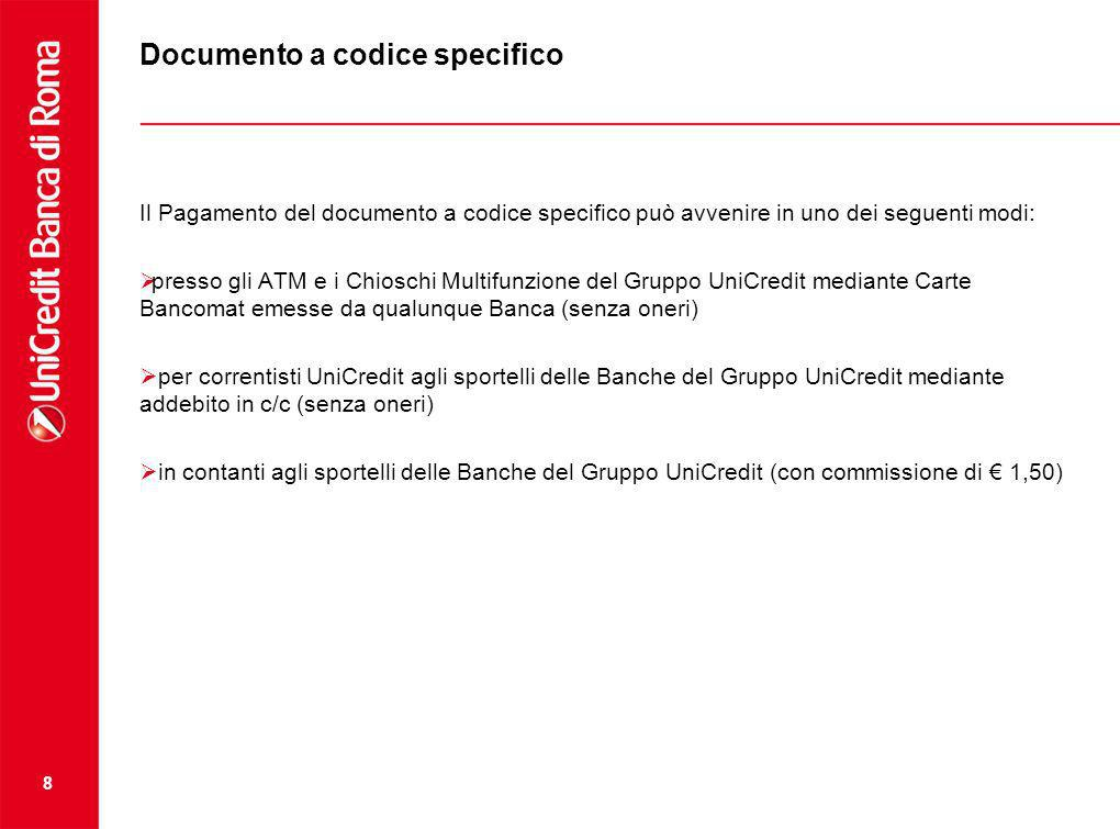 Documento a codice specifico
