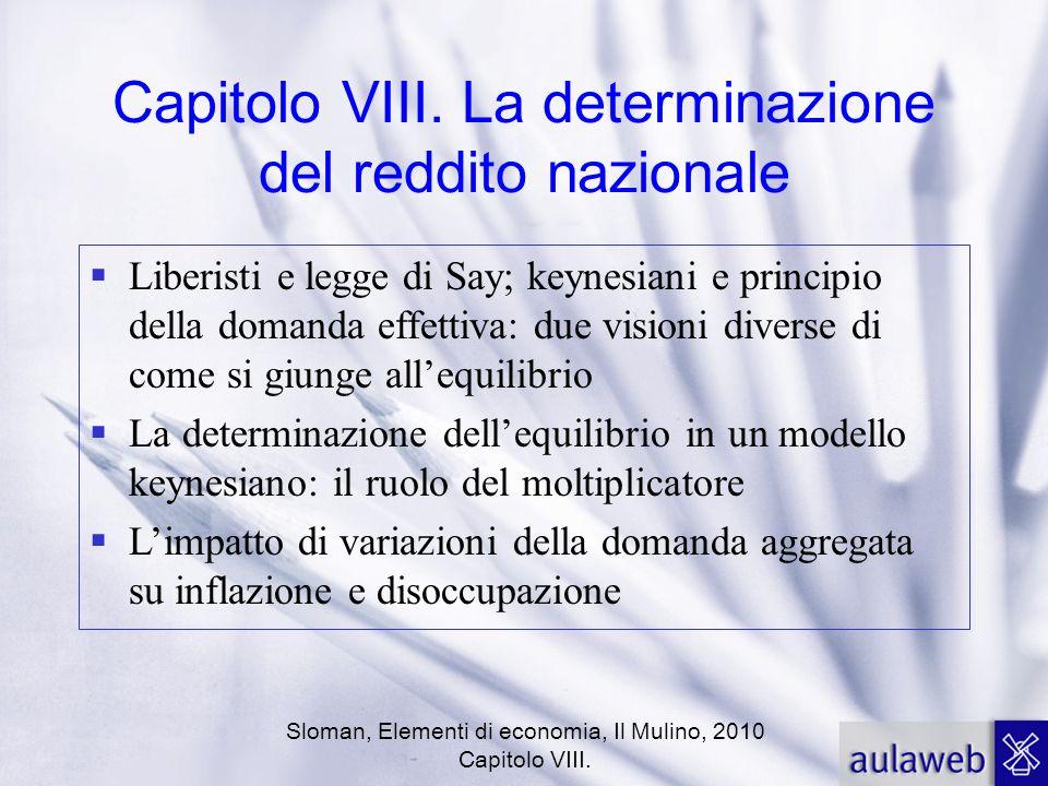 Capitolo VIII. La determinazione del reddito nazionale