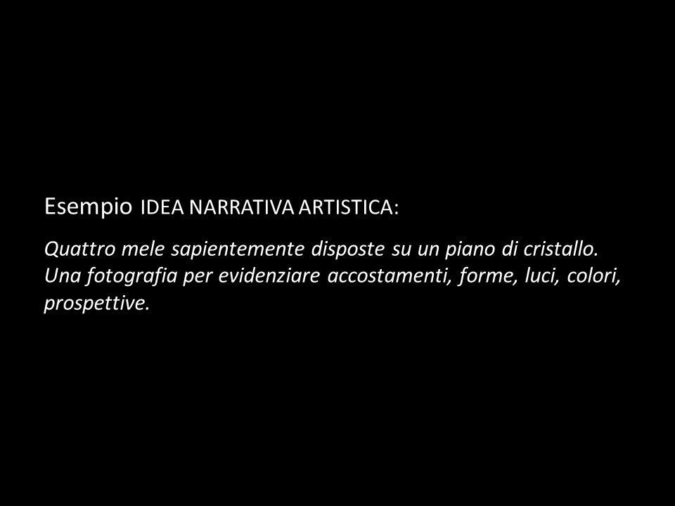 Esempio IDEA NARRATIVA ARTISTICA: