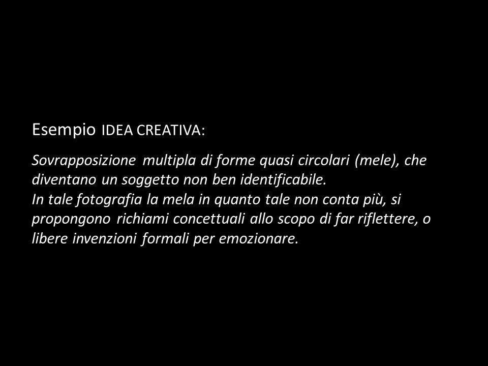 Esempio IDEA CREATIVA: