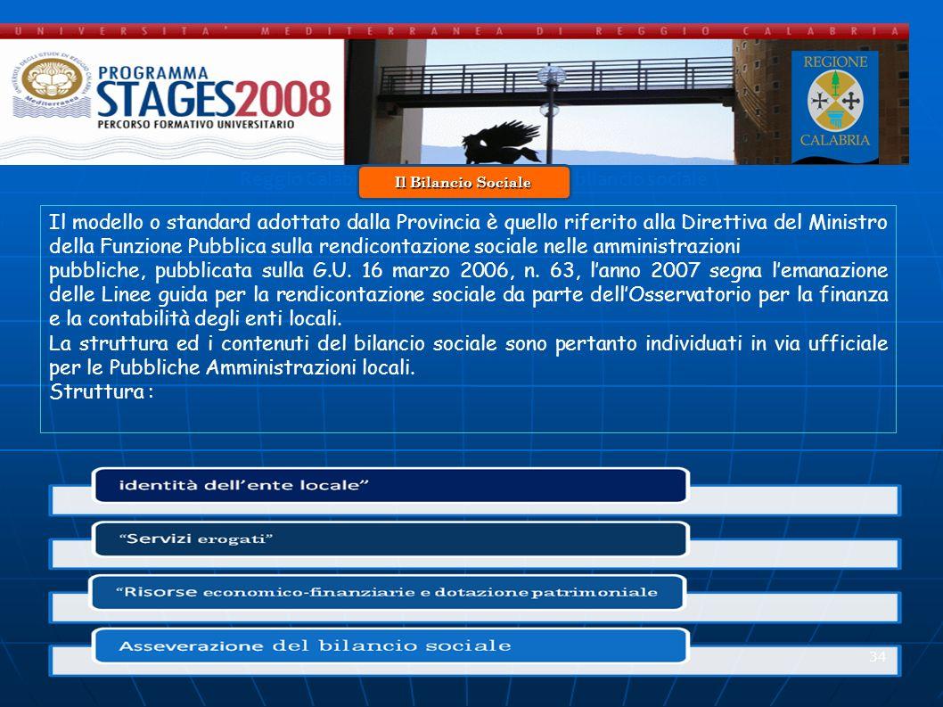 Reggio Calabria 20 Novembre 2008 - Il bilancio sociale