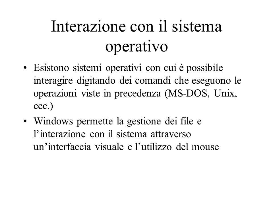 Interazione con il sistema operativo