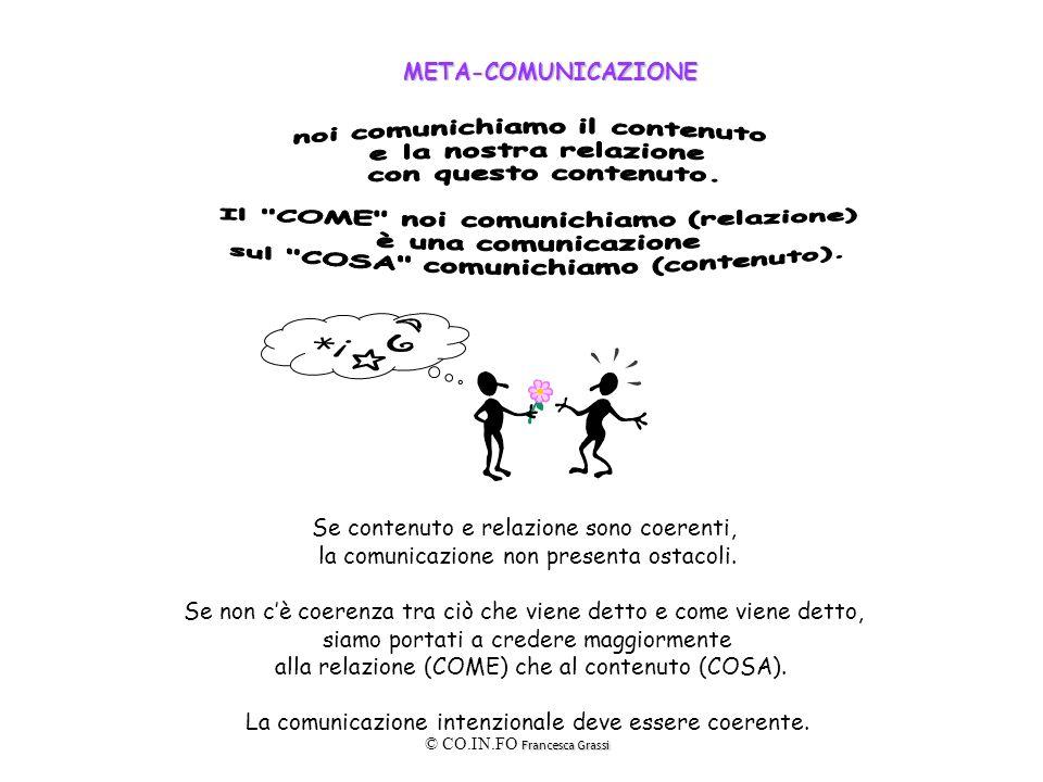 noi comunichiamo il contenuto e la nostra relazione