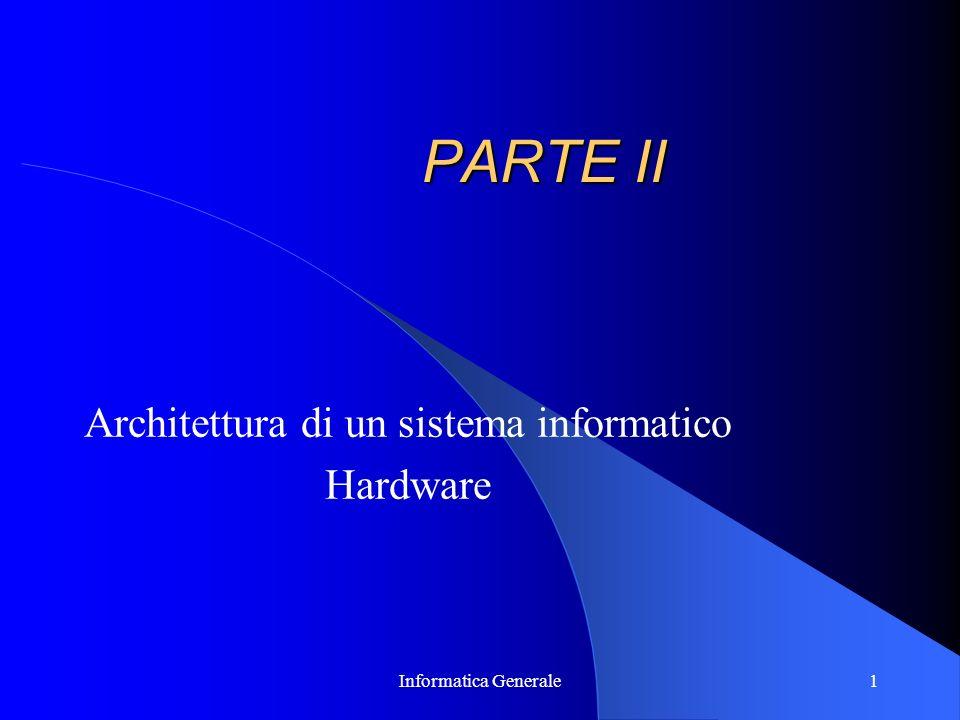 Architettura di un sistema informatico Hardware