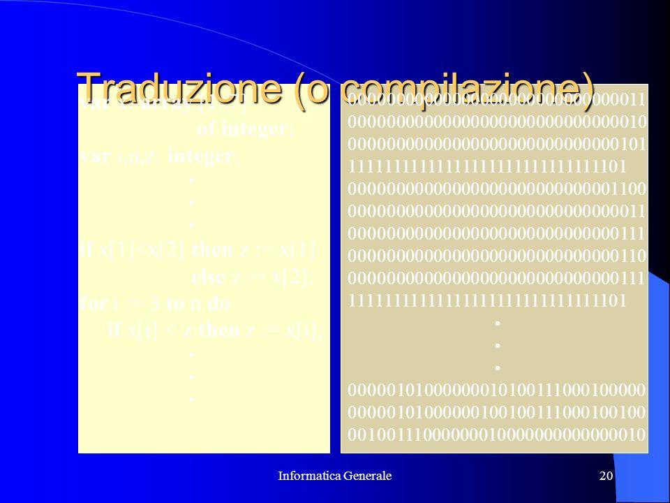 Traduzione (o compilazione)