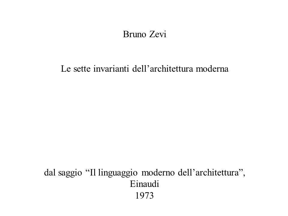Le sette invarianti dell'architettura moderna