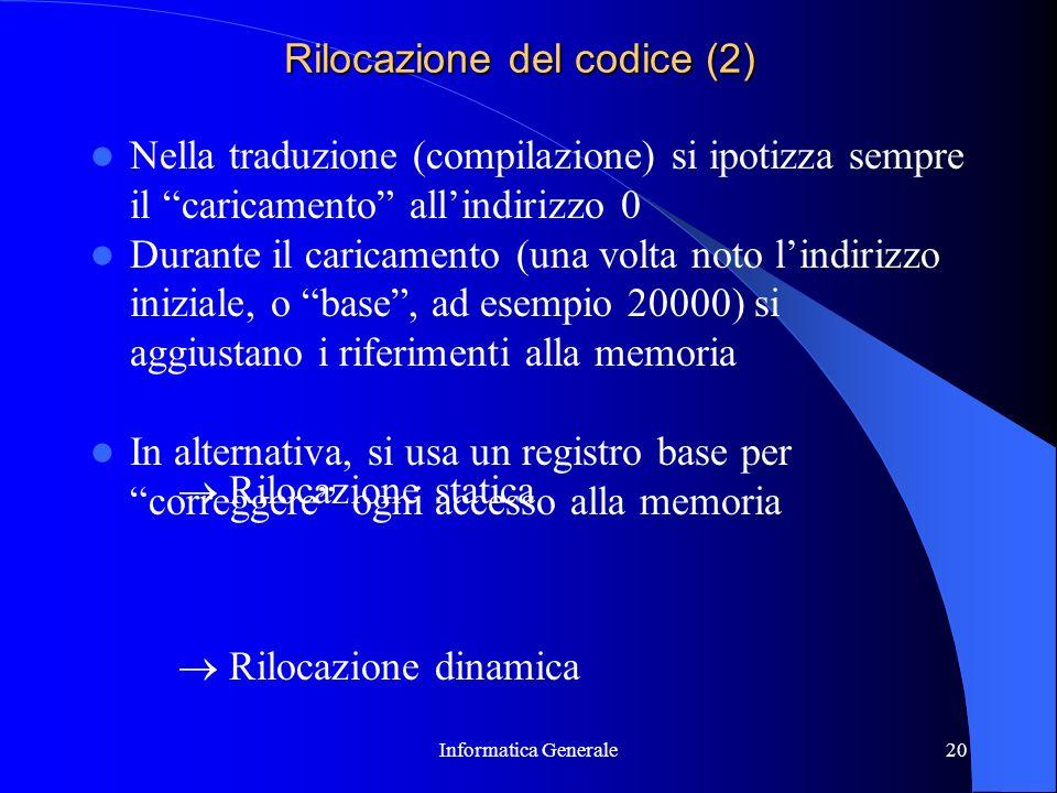 Rilocazione del codice (2)