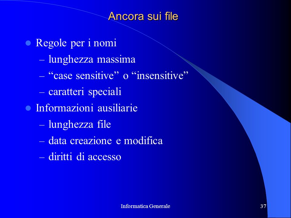 case sensitive o insensitive caratteri speciali