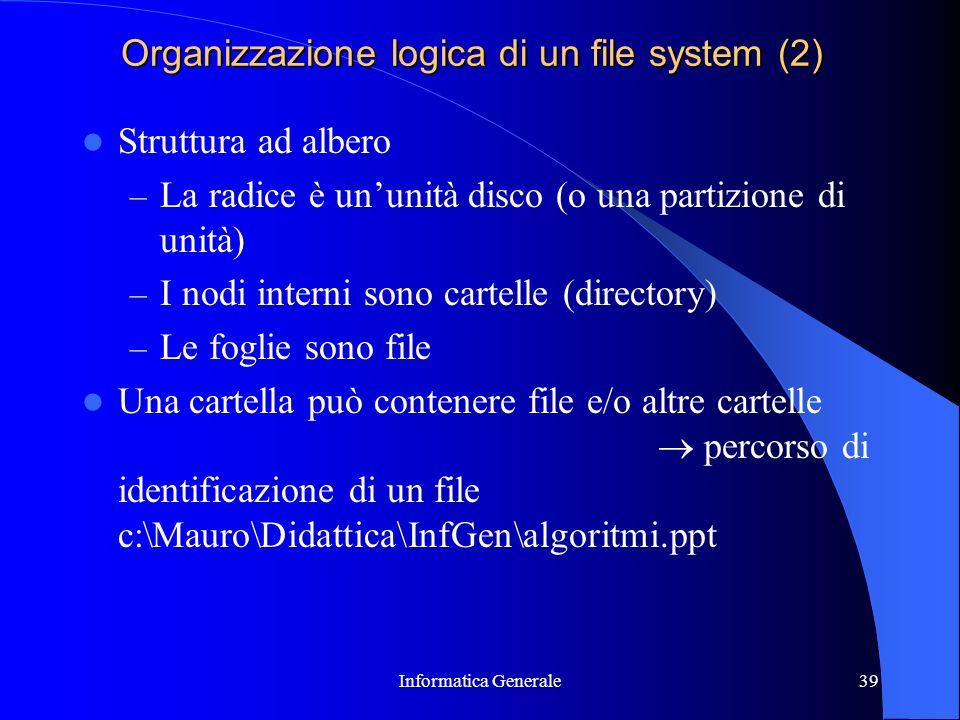 Organizzazione logica di un file system (2)