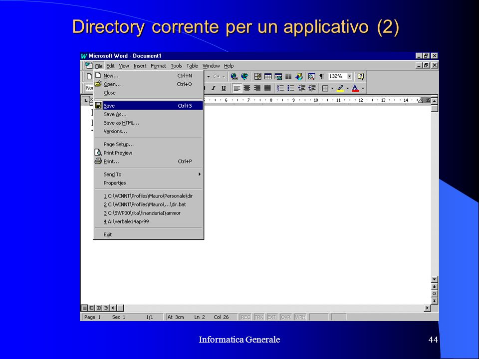 Directory corrente per un applicativo (2)