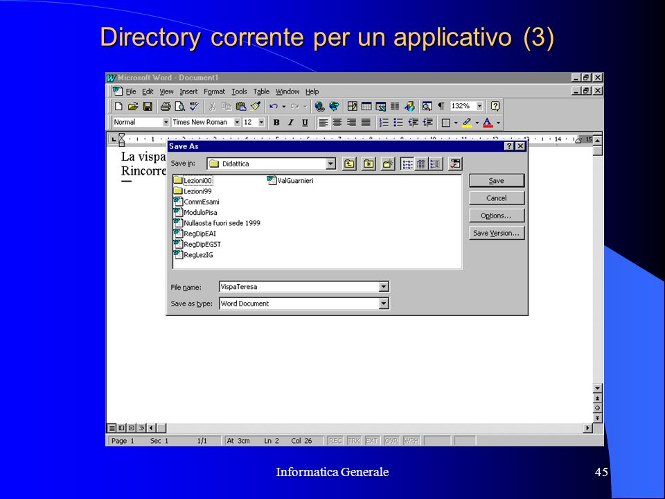 Directory corrente per un applicativo (3)