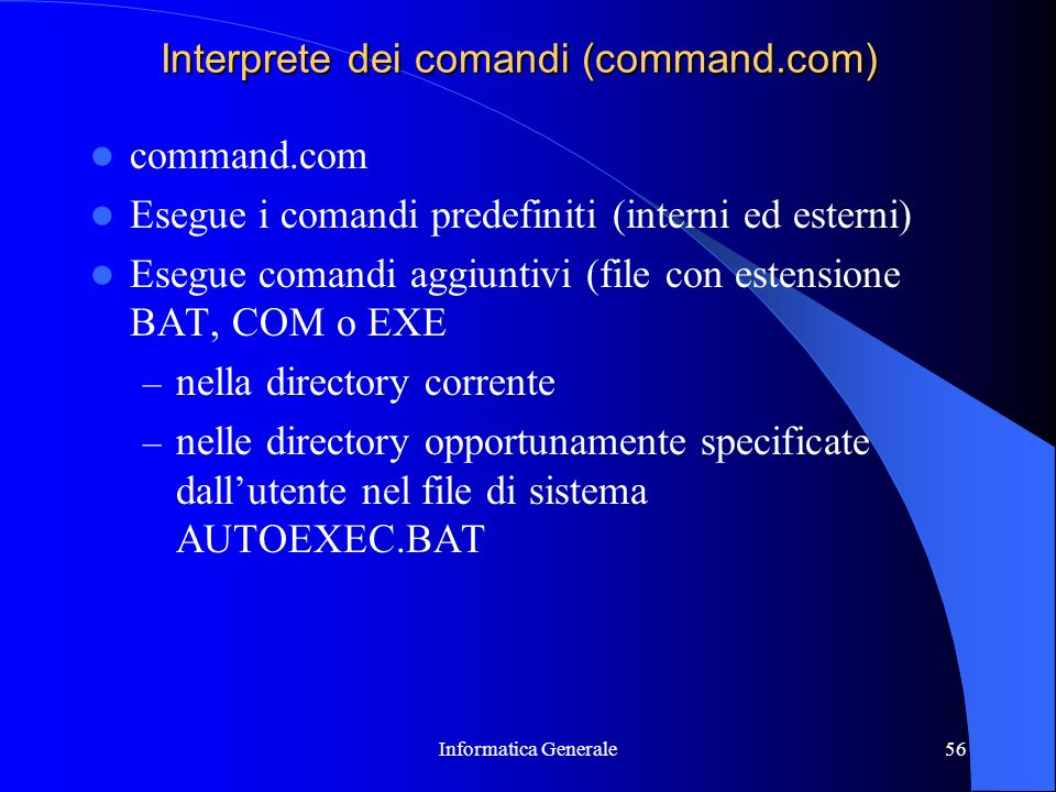 Interprete dei comandi (command.com)