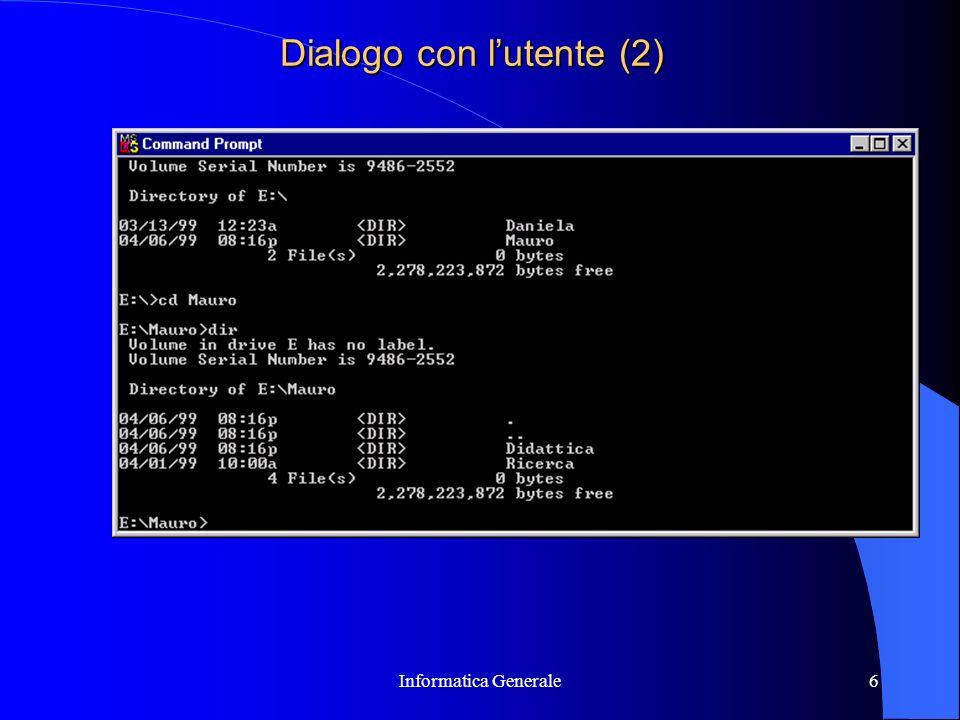 Dialogo con l'utente (2)